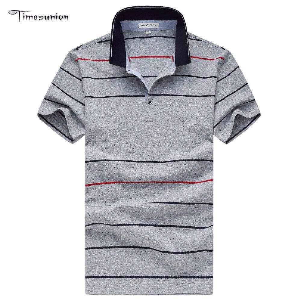 Venta caliente 2016 Nueva Moda Para Hombre Camisa de Polo de Rayas. 8a8421a2849aa