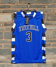 New Model LIANZEXIN #3 The film version of One Tree Hill Scott Need double stitched mesh basketball jersey Blue Color For Men