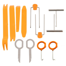 12pcs/set Vehicle Dash Trim Tool Set Car Door Panel Audio Dismantle Remove Install Pry Kit Refit Hand Tools