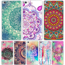 Colorful Floral Paisley Flower Mandala Henna Hard Case for Huawei P9 P8 Lite P9 Plus P7 P6 G7 & Honor 4C 4X 7 6