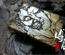 Hand carved wooden cigarette lighter African chrysanthemum pear A practicing buddhist magic version of kerosene lighter