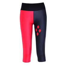 S-XL New Women's Capris pants women leggings Red&black geometric diamond digital print women high waist Side pocket phone pants(China)