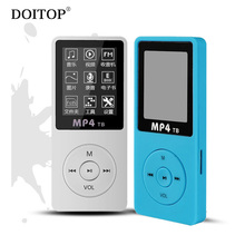 DOITOP Portable 1.8 Inch MP3 MP4 Player 80 Hours Music Playing HIFI Sound Audio Video MP4 Player Support TF E-book FM Recorder 5(China)