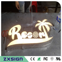 Custom Outdoor advertising front lit Acrylic led sign making custom company logo, business sign channel letters(China)