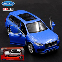1pc 1:36 11.5cm delicacy WELLY Volvo XC90 cross-country vehicle car alloy model home collection decoration boy toy gift