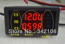 Free Shipping!!!! DC5-40V 20A Dual LED Display Digital Voltmeter Ammeter Voltage AMP Power Meter(China)