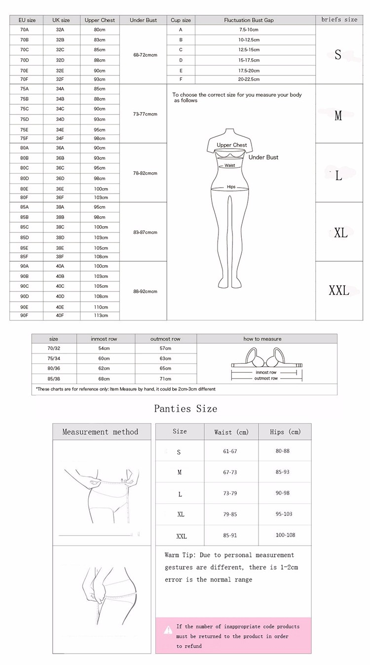 18 New Arrival Girls Underwear Set Push-up Thin Cotton Half Cup Lace Bra And Panty Set Women Lingerie Big Size Bra set 2
