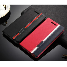 Cases For Lenovo S60 S60-a Luxury Black Red Leather Book Flip Cover Wallet Cell Phone Covers Bags For Lenovo S60 S60T S60W hy307(China)