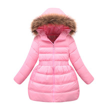 Fashion Girls Coat 2017 New Thick Warm Autumn Winter Childrens Outerwear 5 6 7 8 9 10 11 12 Years Kids Jackets for Girls(China)