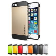 NWT Tough SLIM ARMOR protective Case for iphone 5g 5s original cell phone silicone protector ani-knock cover with 1x screen film