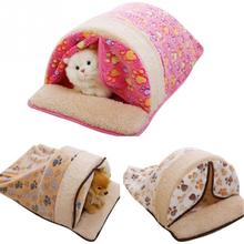 Sweet Style Winter Warm Pet Cat Bed Small Dog Kennel Pet House Kitten Home Puppy Cushion Mats Sofa Cat Living Pet Place to Sleep(China)