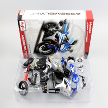1/12 Scale Honda CBR600RR DIY Assemble Supersport model motorcycle diecast tank metal die cast race replica vehicle toys for Kid(China)