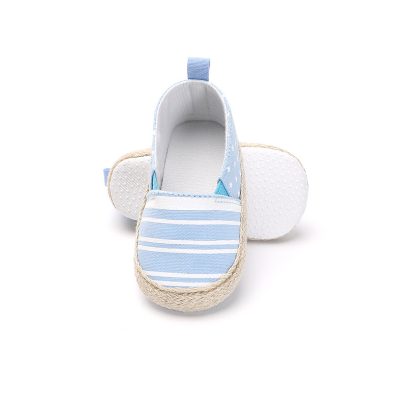 Baby Girl Shoes Toddler Infant Baby Girl Dot Striped Crib Shoes Soft Sole Anti-slip Single Shoes Baby First Walker Shoes M30#F (12)