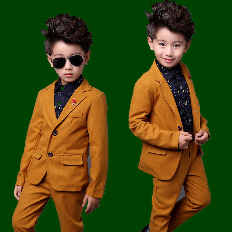 WENDYWU 2018 New Style Black Boys Suits for Weddings Boy Prom Blue Blazer Jacket Set for 3-10 years<br>