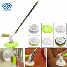 60W 220V EU/US Plug Automatic Electric Cleaning Brushes Rechargeable Cordless Power Scrubber with 3 Replaceable Brush Heads
