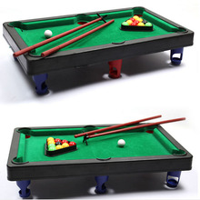 MINI POOL TABLE Flocking desktop simulation billiards Novelty Mini billiards table sets children's play sports balls Sports Toys(China)