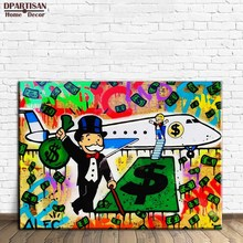 New Fashion Fly Alec monopoly Graffiti arts print canvas for wall art decor oil painting wall painting picture No framed M92