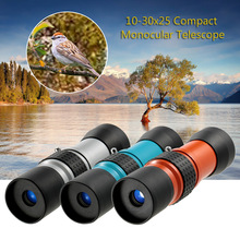 10-30x25 HD Monocular Telescope Outdoor Camping High Power Mini Telescope Compact Spotting Scope Optical Monocular Telescope(China)