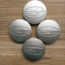 4 price for 60 mm Subaru Impreza forest wheel center caps decoration center hub shell plating(China)