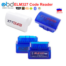 Newest Mini OBD2 ELM 327 Car Diagnostic Tool Scan Trouble Codes ELM327 Bluetooth Works Android Torque Support OBDII Protocols
