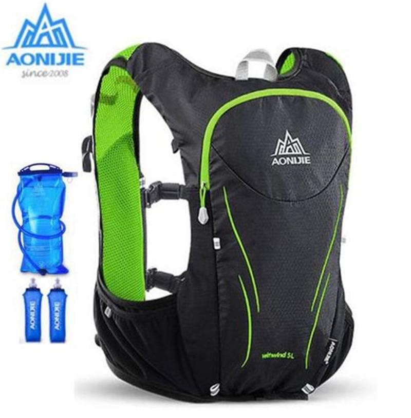 AONIJIE Women Men Outdoor Sport Running Backpack 5L Ultralight Marathon Hydration Vest Backpack Cycling Hiking Bag<br>