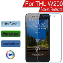 "Ultra Clear/Matte/Nano anti-Explosion LCD Screen Protector Cover Film For THL W200 W200S 5.0"" Protector Film(Not Tempered Glass)"