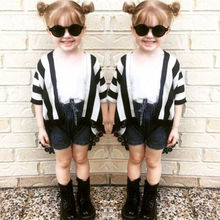 Family Clothes Mother Baby Girl Kid Casual Shirt Blouse Cover Ups Tops matching Clothing(China)