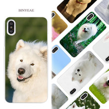 Buy BINYEAE Samoyed puppy dog art Hard White Phone Case Cover Coque Shell iPhone X 6 6S 7 8 Plus 5 5S SE 4 4S 5C for $1.49 in AliExpress store