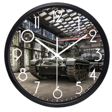 Real Photo Heavy Weapons Tank Wall Clock Living Room Military Fans Wall Clock Home Decor