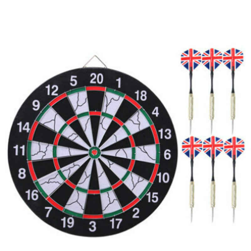 Free Shipping 12 Inch Darts Boards High-grade Double-sided Flocking Dartboard For Dart Game 6 Darts For Free<br><br>Aliexpress