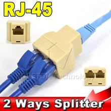2015 New 1Pcs SOCKET RJ45 for CAT5 CAT6 Ethernet Splitter Cable LAN Port 1 to 2 Socket Splitter Connector Adapter