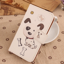 LINGWUZH PU Leather Case Cartoon Pattern Cover Flip Phone Pouch For MEDION LIFE E4504 MD 99537 E5005 MD 99915 E5020 MD 99616