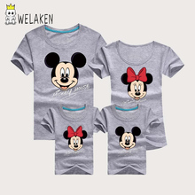 weLaken Fashion Family Matching Outfits Lovely Cartoon Pattern Summer Short Sleeve t-shirts Children's Clothing Family Look