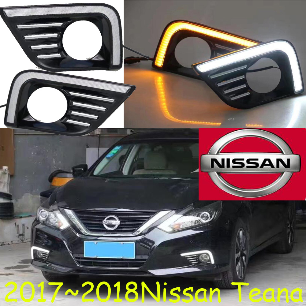2017 2018year,Teana daytime light,chrome,LED,Free ship!2pcs/set,Free ship,Sentra fog light,Teana headlight,Titan,Rogue fog lamp<br>