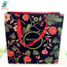 High Quality Fashion Flower Class Gift Bags Birthday Wedding Party Decoration Supplies Souvenir Bags Party Gift Bag 4pcs
