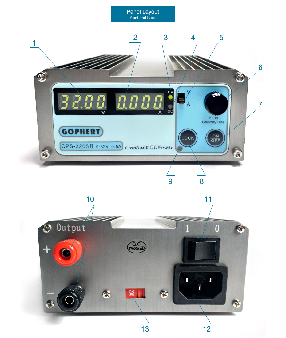 CPS-3205II dc power supply 3
