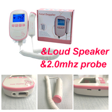 large 2.4inch screen with Loud speaker Fetal Doppler Monitor Baby Heart Beat +Backlight LCD display