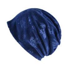Turban Hat Chemo Women Knitted Beanie Warm Caps Ladies Skullies Beanies Hats Female Maple leaves Turban Cap Flannel Collar Scarf(China)