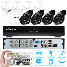 KKmoon 8CH HDMI 960H DVR Security Camera System 4pcs IP66 Waterproof 700TVL CCTV Camera Outdoor IR-CUT Home Security System Kits