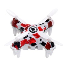 2017 New Mini Helicopter Flower Pattern 0.3MP Pocket Drone 2.4G 3.7V 4 CH 3D Roll Mini Toy RC Quadcopter with LED(China)