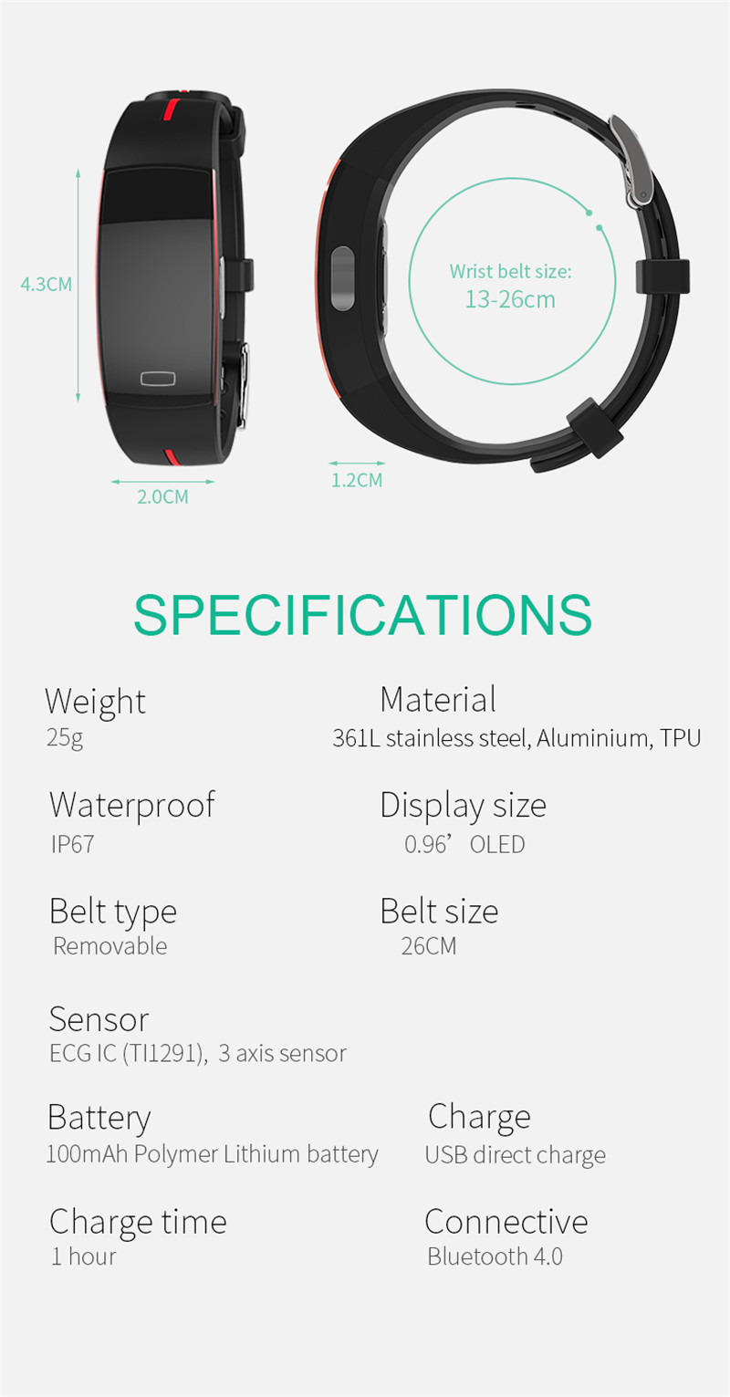 Activity Tracker with Blood Pressure Watch 15