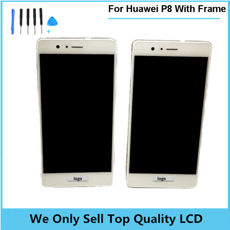 For Huawei Ascend P8 Standard Original LCD with Touch Screen Glass Digitizer with Frame wholesale DHL Free Shipping 10pcs/lot<br>