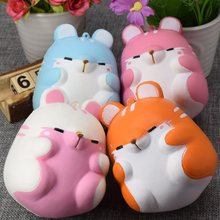 Slow Rising Squishy Jumbo Squeeze Phone Strap Cute Hamster Mouse Sweet Scented Soft Candy Color Doll Phone Strap