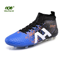 YILINGYI Sport Soccer Shoes Outdoor Lawn Long Spikes Football Boots Footwear Cleated Shoes Sneaker Studded Boots ZQX012