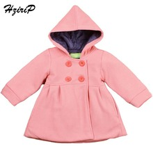 New 2016 Autumn Winter High Quality Fashion Baby Coat Cotton Lining Jacquard Hooded Coat Baby Girl Winter Jacket Kids Clothes(China)