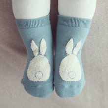 Toddler Kids Socks Girls and Boys Soft Non-slip Socks Fur Bunny Printed Boot Cuffs Baby Socks(China)