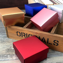 50PCS Kraft Paper candy Box Wedding Gift Packing Box Wedding birthday Party Favors cardboard handmade Soap Boxes gold red