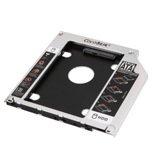 1PC SATA to SATA 2nd HDD Caddy Adapter 9.5mm Aluminum Hard Disk Drive Optical Caddy Bay for PC Laptop(China)
