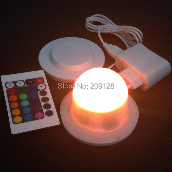 outdoor or indoor  waterproof rechargeable rgb ip68 led lighting bulbs inside furniture<br>