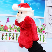 2016 New hand puppet doll plush toys nursery toys Santa Claus Christmas gift